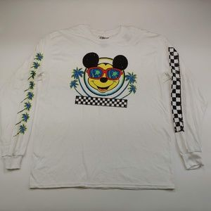 Disney Men's White Graphic Crew Neck Sweater NWT